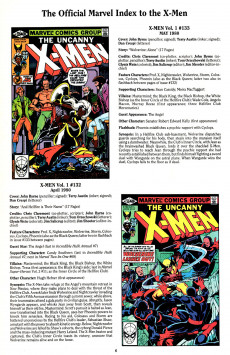 Extrait de The official Marvel index to the X-Men (1994) -3- The Official Marvel index to the X-Men Vol. 2 No.3