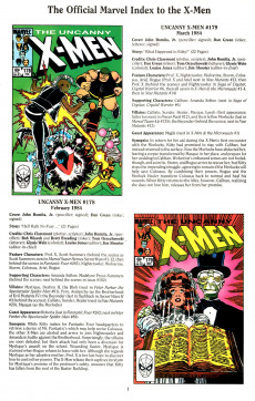 Extrait de The official Marvel index to the X-Men (1994) -4- The Official Marvel index to the X-Men Vol. 2 No.4