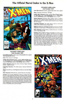 Extrait de The official Marvel index to the X-Men (1994) -5- The Official Marvel index to the X-Men Vol. 2 No.5