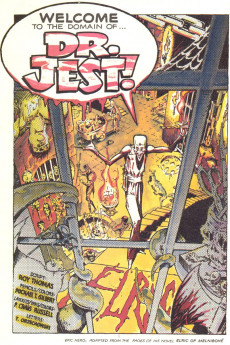 Extrait de Elric (Thomas/Gilbert/Russell, 1983) -2- Welcome To The Domain Of... Dr. Jest!