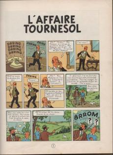 Extrait de Tintin (Historique) -18B29- L'affaire Tournesol