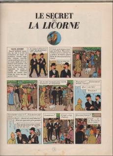 Extrait de Tintin (Historique) -11B27- Le Secret de la Licorne