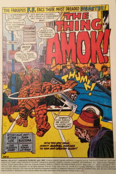 Extrait de Marvel Selects : Fantastic Four -5- The Thing Runs Amok !