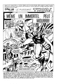 Extrait de Thor (Éditions Héritage) -7172- Même un immortel peut mourir!