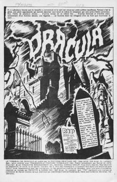 Extrait de Le tombeau de Dracula (Éditions Héritage)  -2- Dracula