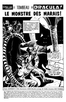 Extrait de Le tombeau de Dracula (Éditions Héritage)  -6- Le monstre des marais!