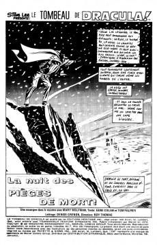 Extrait de Le tombeau de Dracula (Éditions Héritage)  -7- La nuit des pièges de mort!