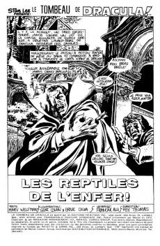 Extrait de Le tombeau de Dracula (Éditions Héritage)  -8- Les reptiles de l'enfer!
