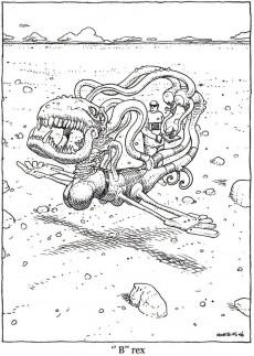 Extrait de Les carnets (Moebius) -a2018- La faune de Mars