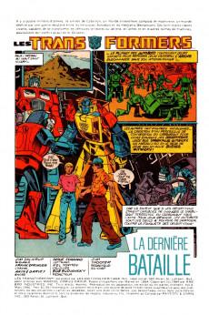 Extrait de Les transformers (Éditions Héritage) -4- La dernière bataille