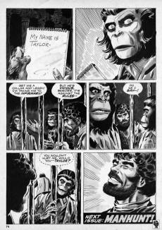 Extrait de Planet of the Apes (Marvel comics - 1974) -2- Battle in the Forbidden Zone!