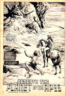 Extrait de Planet of the Apes (Marvel comics - 1974) -7- Marvel's Illustrated Adaptation of Beneath the Planet of the Apes