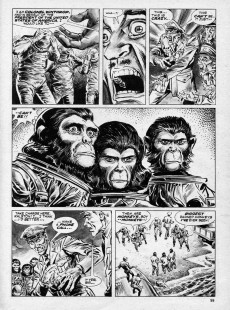 Extrait de Planet of the Apes (Marvel comics - 1974) -12- Escape From the Planet of the Apes!