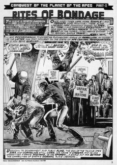 Extrait de Planet of the Apes (Marvel comics - 1974) -18- Ape slaves gone berserk!