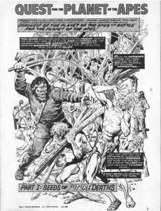Extrait de Planet of the Apes (Marvel comics - 1974) -22- War among the apes!