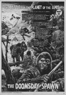 Extrait de Planet of the Apes (Marvel comics - 1974) -24- Man vs Gorilla in a world gone mad!