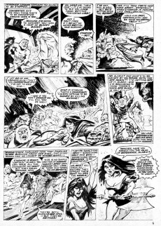 Extrait de Planet of the Apes (Marvel comics - 1974) -29- Mankind's Obituary.. ..Written on the Winds of Death!