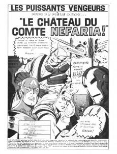 Extrait de Les vengeurs (Éditions Héritage) -9- Pris au piège dans le château du Comte Nefaria!