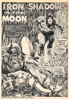 Extrait de Savage Sword of Conan The Barbarian (The) (1974) -4- Iron Shadows in the Moon