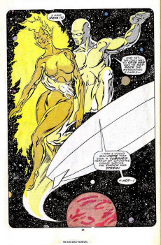 Extrait de Silver Surfer Vol.3 (Marvel comics - 1987) -1- Issue #1