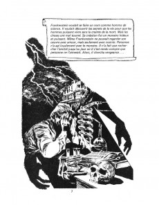 Extrait de Classiques illustrés (Éditions Héritage) -16- Frankenstein