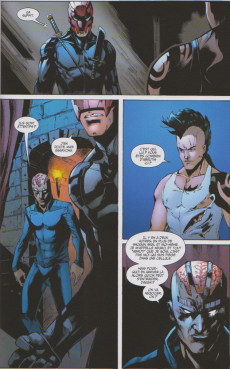 Extrait de Wolverines (Marvel Deluxe) -1- Quatre mots
