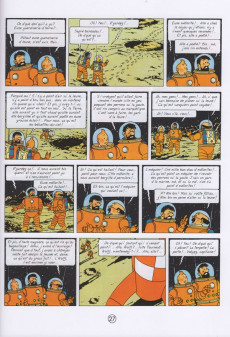 Extrait de Tintin (en langues régionales) -17Sarthois- N'on a piâné su' la leune