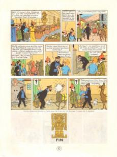 Extrait de Tintin (Historique) -14C5- Le temple du soleil
