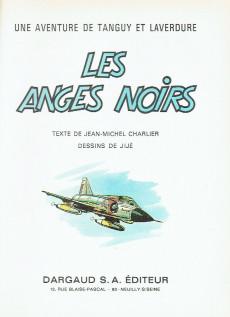 Extrait de Tanguy et Laverdure -9a1968- Les anges noirs