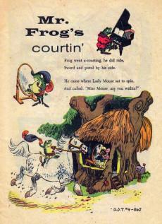 Extrait de Dell Junior Treasury (1955 - 1957) -4- Adventures of Mr. Frog and Miss Mousie