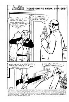 Extrait de Archie (1ère série) (Éditions Héritage) -20- Assis entre deux chaises