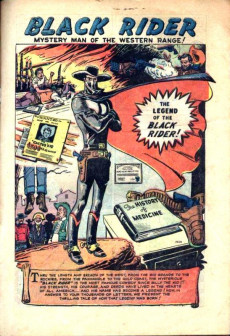 Extrait de Black Rider (Atlas - 1950) -10- The Legend Of The Black Rider!