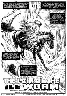 Extrait de Savage Sword of Conan The Barbarian (The) (1974) -34- Lair of the Ice Worm
