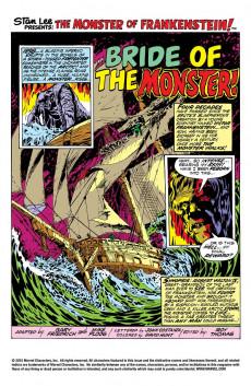 Extrait de Monster of Frankenstein (The) (Marvel - 1973) -2- The Bride of the Monster!