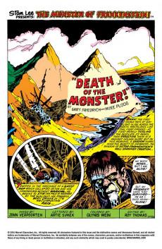 Extrait de Monster of Frankenstein (The) (Marvel - 1973) -4- Is this..Monster's Death?