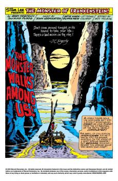 Extrait de Monster of Frankenstein (The) (Marvel - 1973) -5- The Monster Walks Among Us!