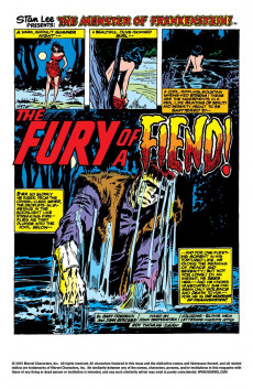 Extrait de Monster of Frankenstein (The) (Marvel - 1973) -7- The Fiend and The Fury!