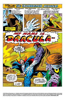Extrait de Monster of Frankenstein (The) (Marvel - 1973) -8- Frankenstein meets Dracula!
