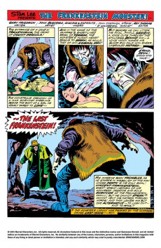 Extrait de Monster of Frankenstein (The) (Marvel - 1973) -10- Death strikes the Man called Frankenstein!