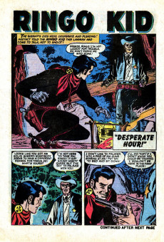 Extrait de Ringo Kid (The) Vol 2 (Marvel - 1970) -1- Ringo the fasted gun alive!