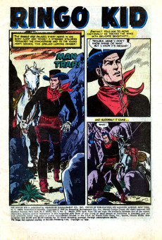 Extrait de Ringo Kid (The) Vol 2 (Marvel - 1970) -2- Man Trap!