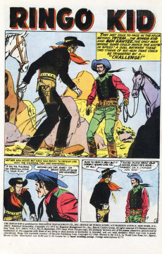 Extrait de Ringo Kid (The) Vol 2 (Marvel - 1970) -11- Bullet for a Bandit!