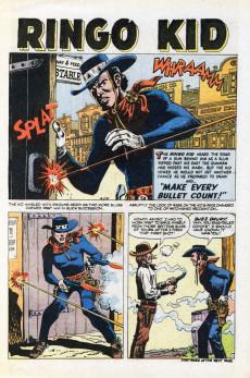 Extrait de Ringo Kid (The) Vol 2 (Marvel - 1970) -17- Gundown at the Hacienda!