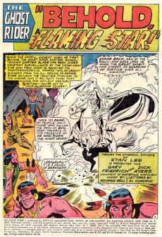 Extrait de Ghost Rider Vol.1 (Marvel Comics - 1967) -6- Behold.. A Flaming Star!