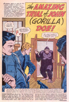 Extrait de Strange adventures (1950) -100- The Amazing Trial of John (Gorilla) Doe!