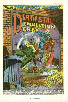 Extrait de Ghost Rider Vol 2 (Marvel - 1973) -4- Death Stalks the Demolition Derby!