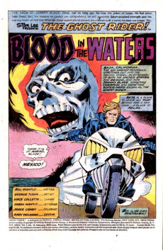 Extrait de Ghost Rider Vol.2 (Marvel comics - 1973) -16- Blood in the Waters