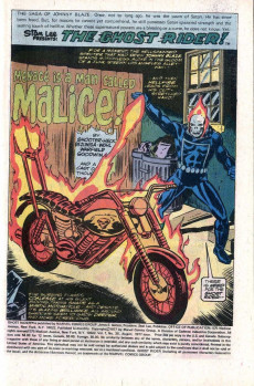 Extrait de Ghost Rider Vol.2 (Marvel comics - 1973) -25- Menace is a Man Called Malice!