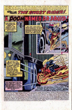 Extrait de Ghost Rider Vol.2 (Marvel comics - 1973) -26- A Doom Named Dr. Druid!