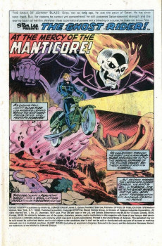 Extrait de Ghost Rider Vol.2 (Marvel comics - 1973) -27- At the Mercy of the Manticore!